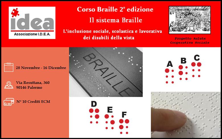 Corso Braille a Palermo (2° edizione) 28/11/2016 – 16/12/2016