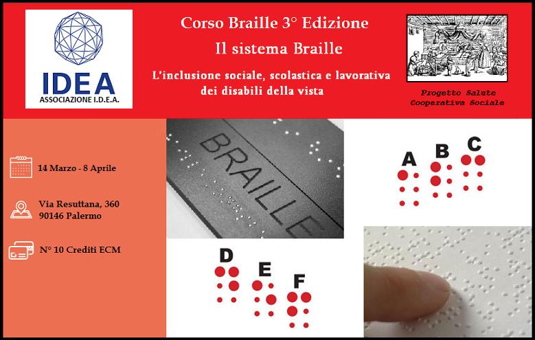 Corso Braille a Palermo (3° edizione) 14/03/2017 – 08/04/2017