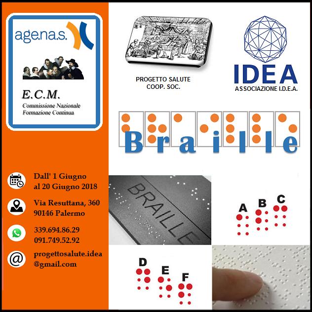 Corso Braille a Palermo (edizione n° 6) 01/06/2018 – 20/06/2018